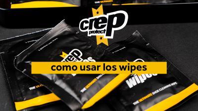 ¿Cómo usar las toallitas Crep Protect?
