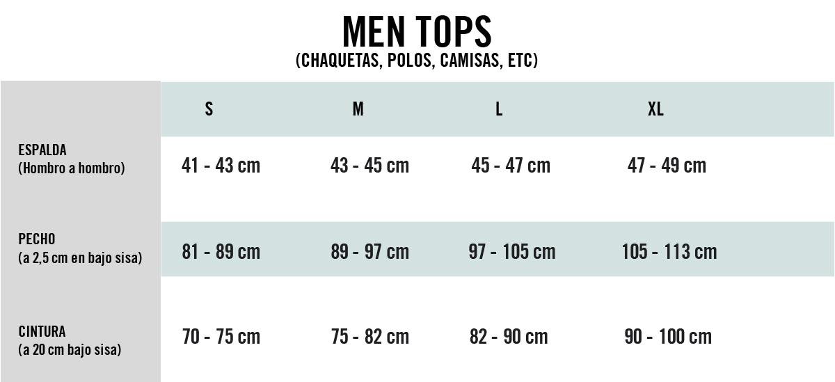 tops hombres